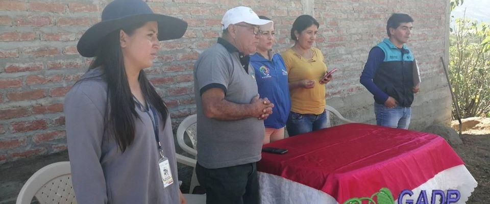 REUNION ENTRE DELEGADOS DEL MIES-LOJA  Y AUTORIDADES DEL GAD, TENENCIA POLITICA DE CASANGA.